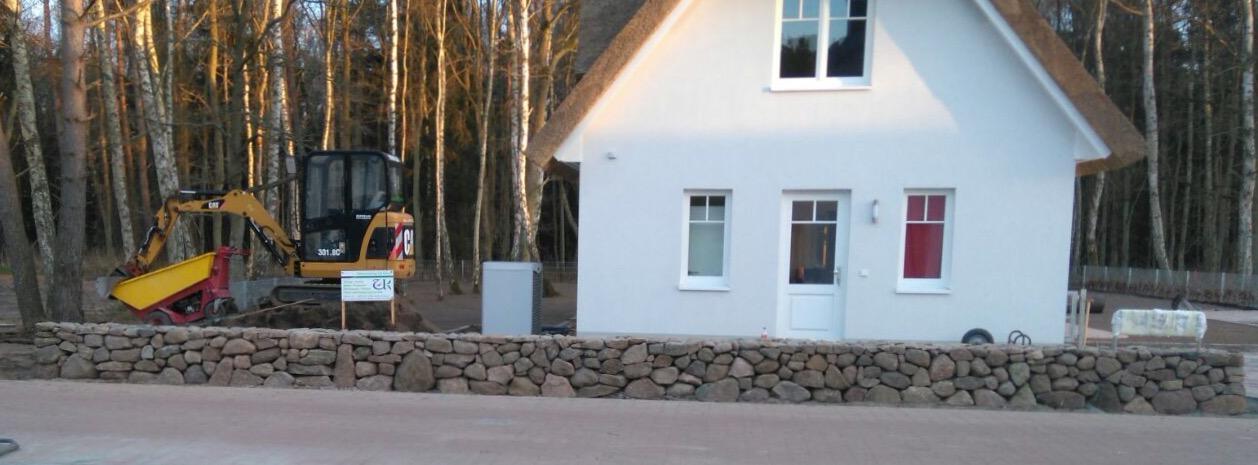 Umgestaltung Außenanlage Ferienhaus auf Rügen