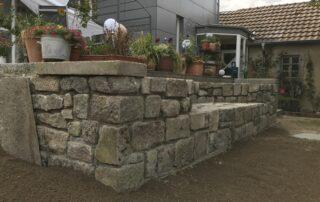 Naturstein Mauerbau von Garten Kalisch